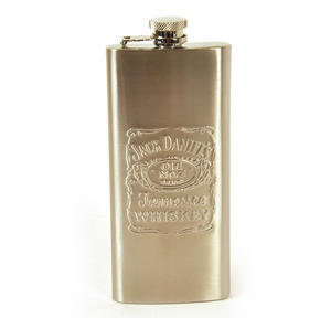 Jack Daniels 5Oz Slimline Pocket Flask Thumbnail 2