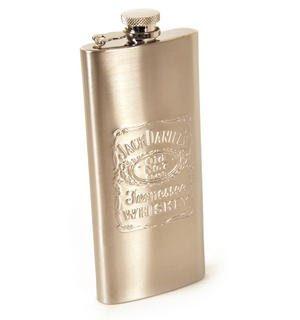 Jack Daniels 5Oz Slimline Pocket Flask Thumbnail 4