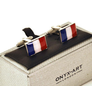 Cufflinks - France - French Flag (Drapeau Français) Thumbnail 1