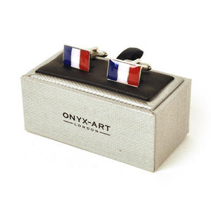 Cufflinks - France - French Flag (Drapeau Français) Thumbnail 2
