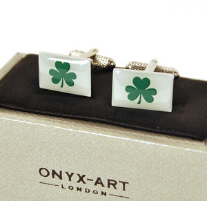 Cufflinks - Ireland - Irish Shamrock Thumbnail 1