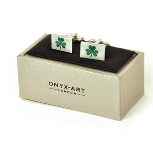 Cufflinks - Ireland - Irish Shamrock Thumbnail 2