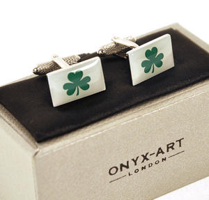 Cufflinks - Ireland - Irish Shamrock Thumbnail 3