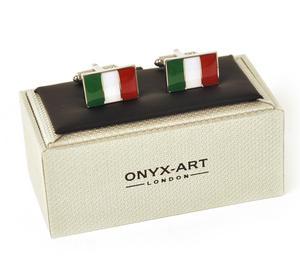 Cufflinks - Italy - Italian Flag (Bandiera Italiana) Thumbnail 3