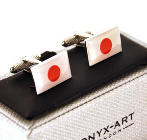 Cufflinks - Japan - Japanese Flag Thumbnail 1