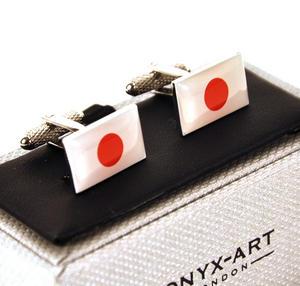 Cufflinks - Japan - Japanese Flag Thumbnail 1