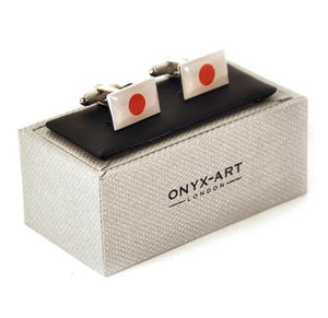 Cufflinks - Japan - Japanese Flag Thumbnail 3