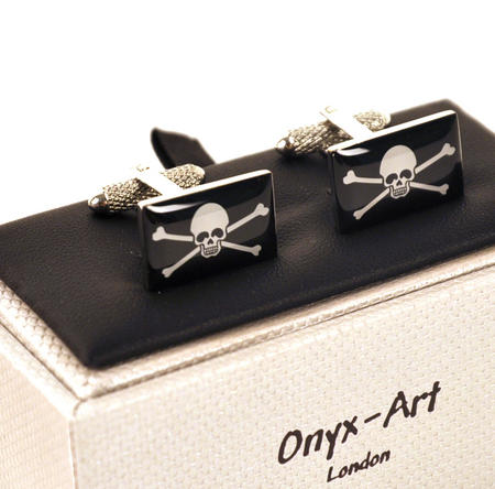 Cufflinks - Jolly Roger Skull & Crossbones