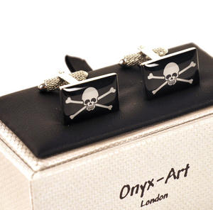Cufflinks - Jolly Roger Skull & Crossbones Thumbnail 1