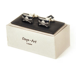 Cufflinks - Jolly Roger Skull & Crossbones Thumbnail 2