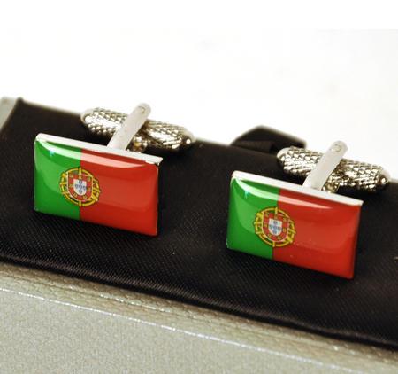 Cufflinks - Portugal - Portuguese Flag (Bandeira Português)
