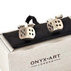 Cufflinks - Satin Dice Thumbnail 1