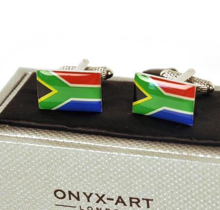 Cufflinks - South Africa - South African Flag (Suid-Afrikaanse Vlag)
