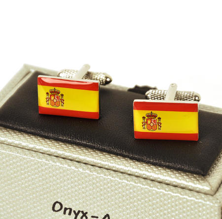 Cufflinks - Spain - Spanish Flag (Bandera Española)