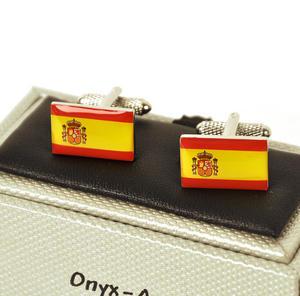Cufflinks - Spain - Spanish Flag (Bandera Española) Thumbnail 1