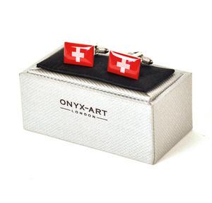 Cufflinks - Switzerland - Swiss Flag (Schweizer Flagge) Thumbnail 2