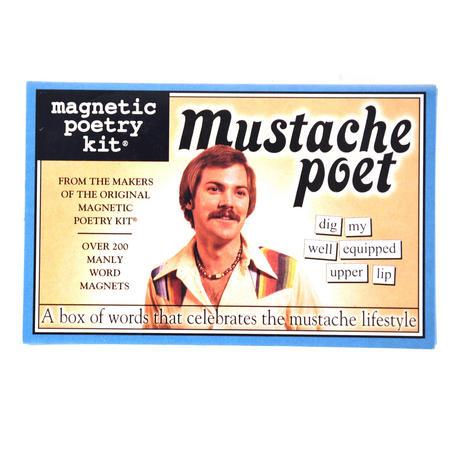 Mustache Poet - Fridge Magnet Poetry Set - Fridge Poetry