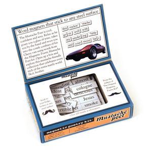 Mustache Poet - Fridge Magnet Poetry Set - Fridge Poetry Thumbnail 2