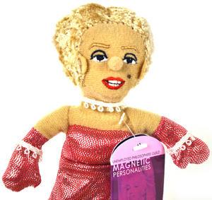 Marilyn Monroe Finger Puppet Fridge Magnet Thumbnail 1