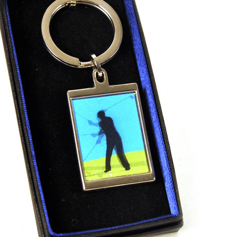 Animated Keyring - Golfer By Sonia Spencer