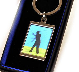 Animated Keyring - Golfer By Sonia Spencer Thumbnail 4