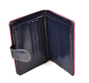 Birdcage Medium Wallet - Petrol / Fuschia Thumbnail 5