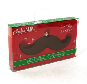 Christmas Mustache Ornament Thumbnail 1