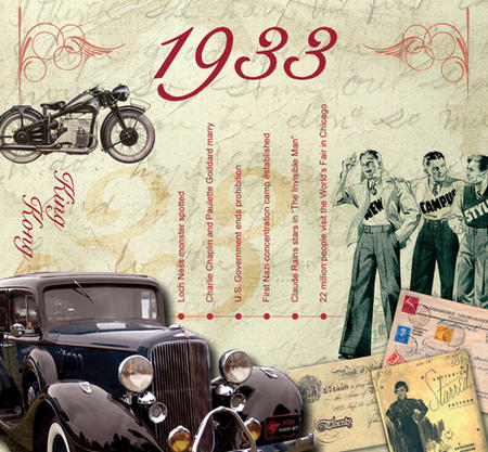1933 The Classic Years 20 Track Cd Greetings Card