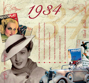 1934 The Classic Years 20 Track Cd Greetings Card