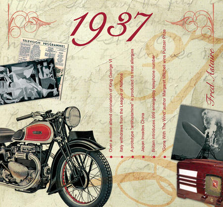1937 The Classic Years 20 Track Cd Greetings Card