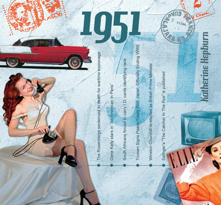 1951 The Classic Years 20 Track Cd Greetings Card