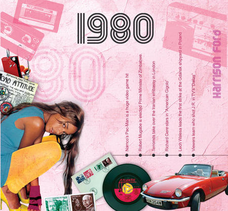 1980 The Classic Years 20 Track Cd Greetings Card