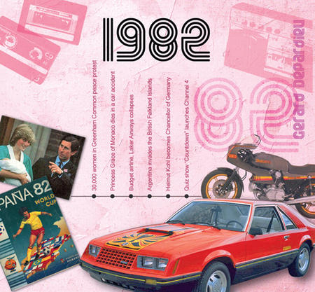 1982 The Classic Years 20 Track Cd Greetings Card
