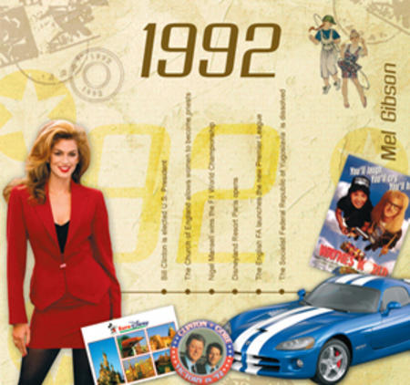 1992 The Classic Years 20 Track Cd Greetings Card