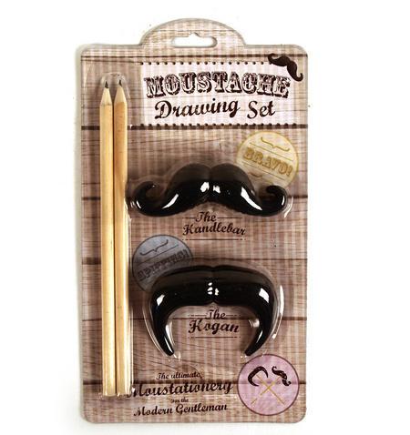 Moustache Drawing Set