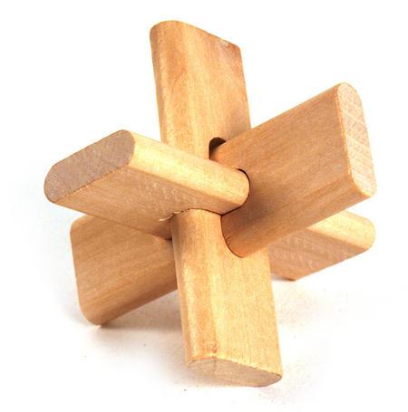 3D Wood Puzzle - Infinity Twist