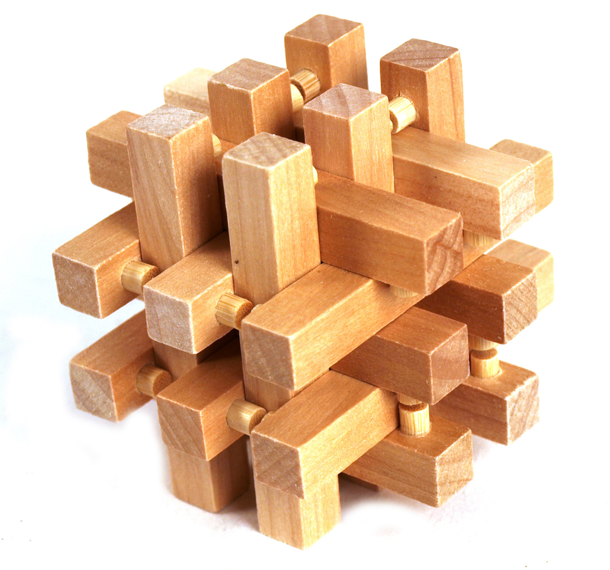 Wood Block Puzzle ~ D wood puzzle matrix cube pink cat shop