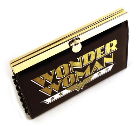 Wonder Woman Deluxe Black Metal Frame Purse
