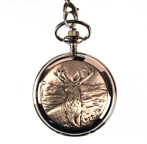 Monarch Of The Glen Stag Pocket Watch Thumbnail 1