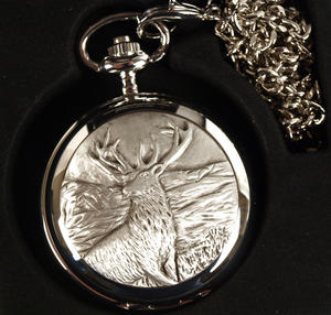 Monarch Of The Glen Stag Pocket Watch Thumbnail 2