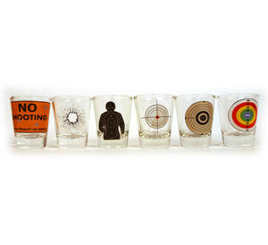 6 Shot Target Shot Glasses Set Thumbnail 3