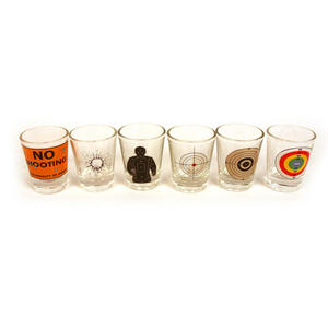 6 Shot Target Shot Glasses Set Thumbnail 4