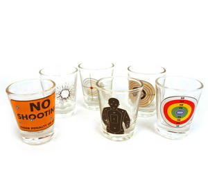 6 Shot Target Shot Glasses Set Thumbnail 5