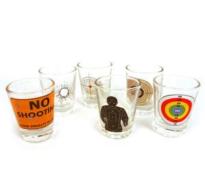 6 Shot Target Shot Glasses Set Thumbnail 5