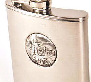 Sporting Shoot Hip Flask Thumbnail 1