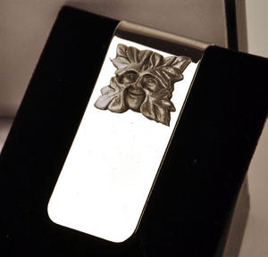 Green Man Money Clip Thumbnail 3