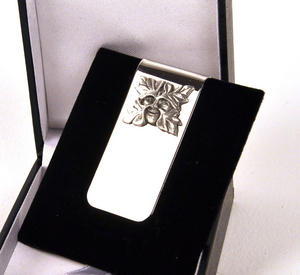Green Man Money Clip Thumbnail 2
