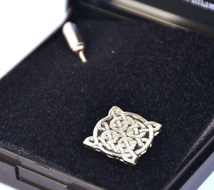 4 Point Celtic Knot Tie Pin Thumbnail 1