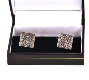 Cufflinks - Square Celtic Thumbnail 2