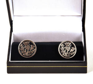 Scottish Thistle Cufflinks Thumbnail 1